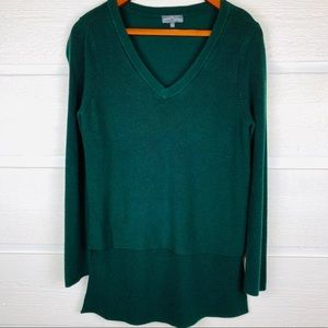 MARKET & SPRUCE Emerald Green Layered Sweater